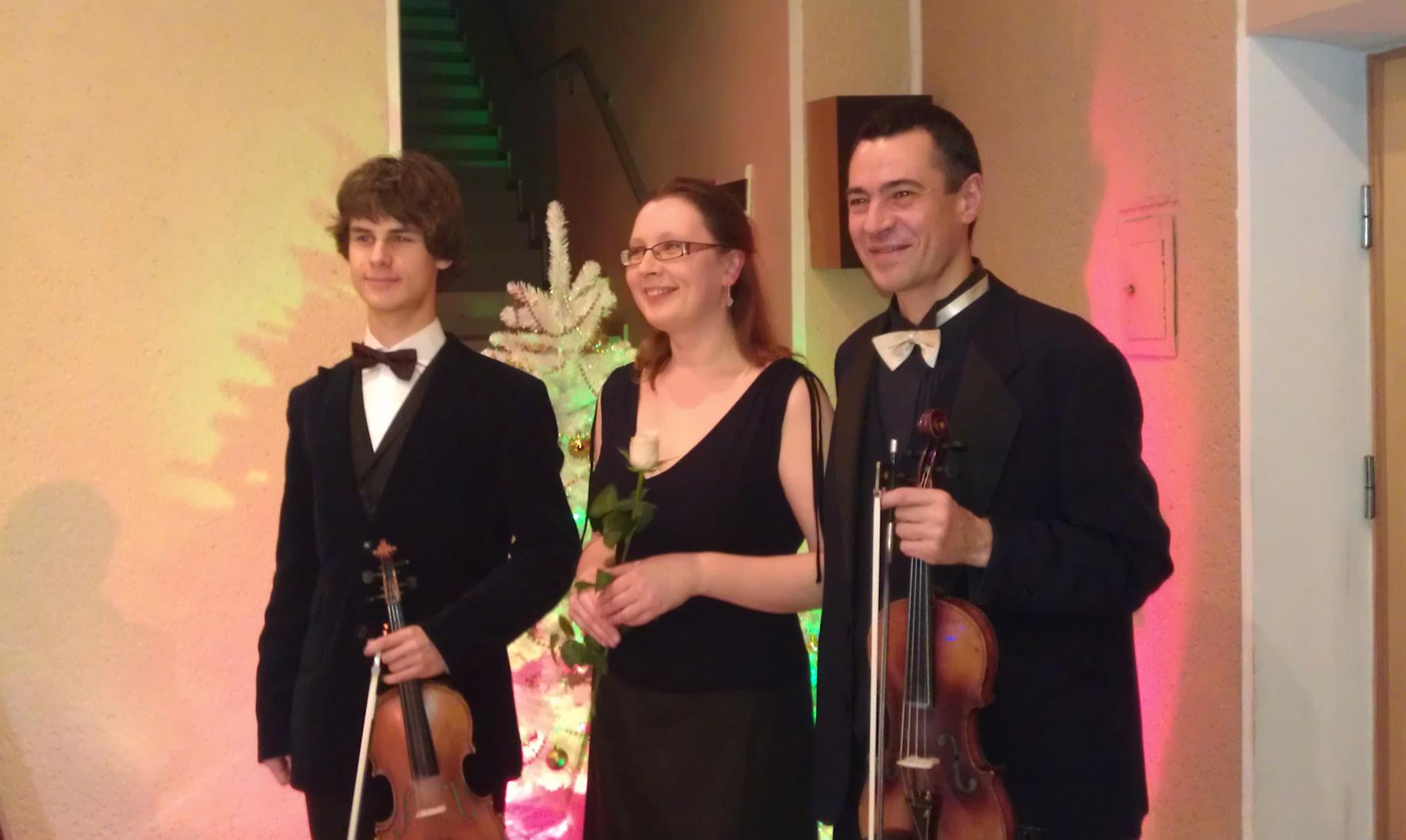 Solokonzert mit Schüler in Panevezys, Litauen, 2012