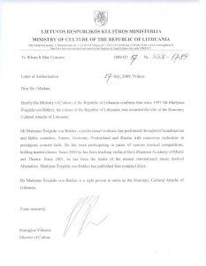 Ehrenamtlicher Kulturattaché der litauischen Republik